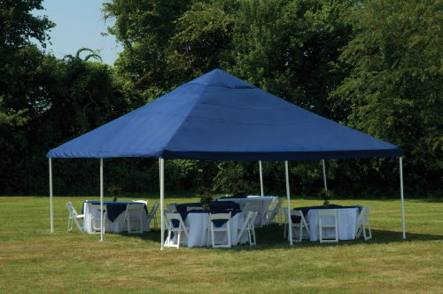 ShelterLogic 20 x 20- Feet Canopy 2- Inch 8-Leg Frame, Blue Cover