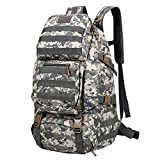 55L Large Capacity Back Pack Bag Outdoor Climbing Bag Waterproof Sports Travel Backpack Army Camouflage Shoulder Bag - ACU Camouflage
