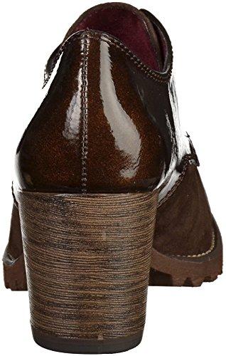 Tamaris Mujer Piel De Tacón Encaje Hasta Shoe marrón