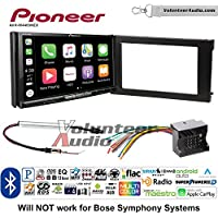 Volunteer Audio Pioneer AVH-W4400NEX Double Din Radio Install Kit with Wireless Apple CarPlay, Android Auto, Bluetooth Fits 2002-2008 Audi A6