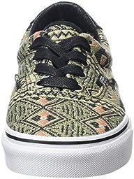 Vans Unisex Era 59 (Moroccan Geo) Black/Ivy Green Skate Shoe 8 Men US / 9.5 Women US