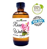 Good Cleansing Drinks - Premium Organic Moroccan Rose Water - 4oz Glass Bottle - Imported From Morocco - 100% Pure (Food Grade) Perfect for Reviving, Hydrating and Rejuvenating Your Face and Neck - By Sweet Essentials