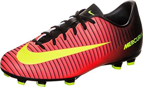 Nike Mercurial Vapor XI FG Football Boots Soccer Shoes red/Black/Yellow, EU Shoe Size:EUR 35.5