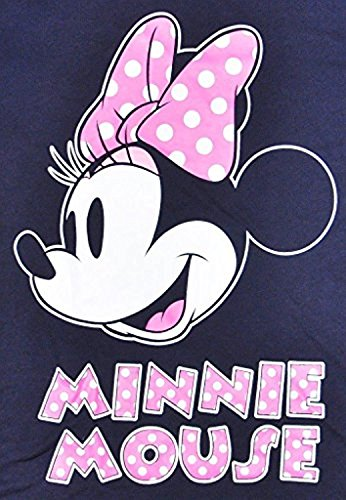 Disney Women's Fitted T-Shirt Minnie Mouse Football Jersey (Navy, XL) -