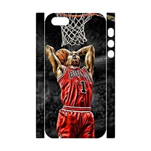 Derrick Rose Personalized 3D Case for Iphone 5,5S, 3D Customized Derrick Rose Case