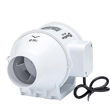 Hon Guan 3 Inch Inline Duct Fan Booster Plastic Waterproof Ventilation Pipe Exhaust Ceiling