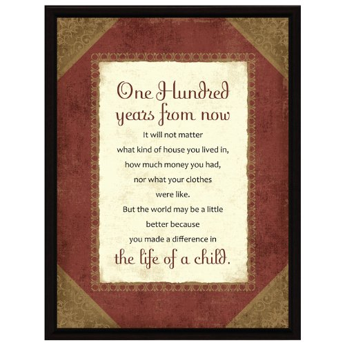 Dexsa One Hundred Years Wood Frame Plaque with Easel