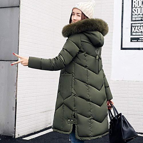 Transition Stepp Chaud Les Parka Tous Long Doudoune Manches Fashion Outdoor Longues Jours avec Manteau Doudoune Femme Grn Chemine Mince Loisir Capuchon Fourrure Hiver Costume qAw8XaH