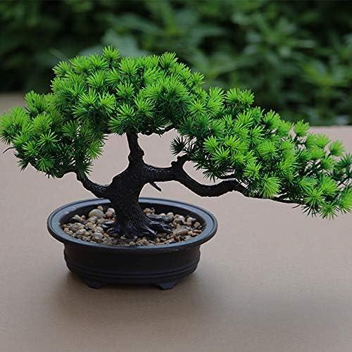 Aisamco Artificiel bonsa/ï Arbre Faux Plante d/écoration en Pot Artificiel Maison Plantes Japonais pin bonsa/ï Plante 22 cm de Hauteur pour la d/écoration de la Maison