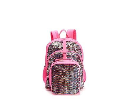 Kids Flippable Sequin Backpack   Lunch Bag Set Pink Multi Color Flip Me  Color Change Sequin  Amazon.co.uk  Clothing 0f9081800c658