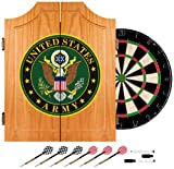 United States Army Wood Dart Cabinet Set