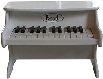 CAPRILO. Instrumento Musical de Pared Decorativo Infantil Piano PEQUEÑO Blanco. Juegos de Colección. Réplicas de Instrumentos Musicales. Regalos ...