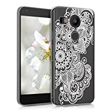 kwmobile Crystal Case Cover for LG Google Nexus 5X IMD design and TPU silicone frame with synthetic back - transparent soft Design ethnic