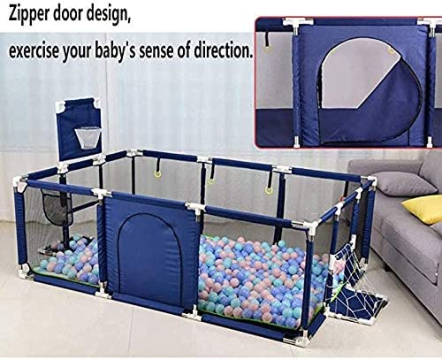 Playpen Portable with Door Activity Center Child Play Game Fence Anti-Skid Pads Playpens Child Fence Household Protective Crawling Fence