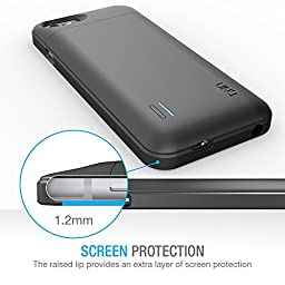 iPhone 6 Battery Case - UNU DX Protective iPhone 6 Charging Case (4.7 Inches) MFI Certified 3000mAh Portable Charger for iPhone 6 - Matte Black