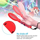 Tennis Racket for Nintendo Switch Joy-Con Controller, Accessories for Nintendo Switch Game Mario Tennis Aces,Twin Pack (1X Blue & 1X Red)