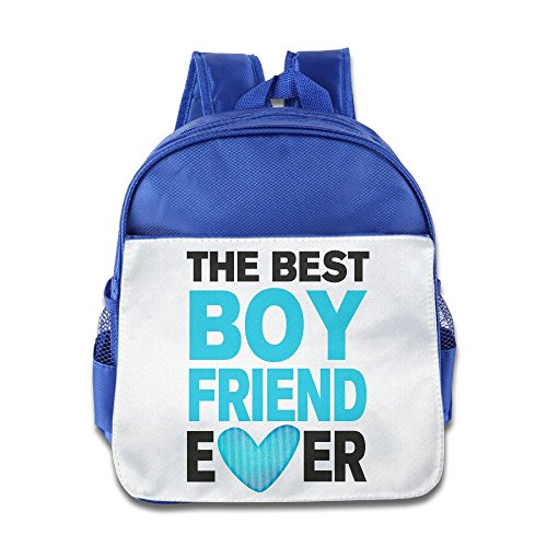 LINNA Personalized Best BOYfriend Ever Teenager School Bag Backpack For 1-6 Years Old RoyalBlue (Jack Daniels Backpack)