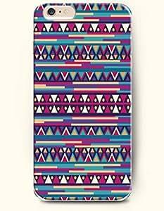 OOFIT Aztec Indian Chevron Zigzag Pattern Hard Case for Apple iPhone 4 4S Blue Zig Zag Mountain Shape