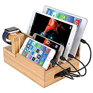 charging station organizer inkotimes bamboo charging station dock 29409