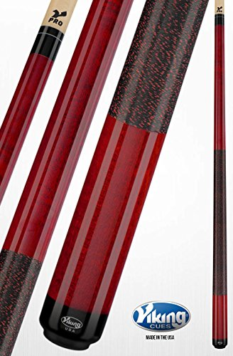 - Viking A255 Pool Cue Stick Crimson Red Stain Curly Maple Quick Release Joint V Pro Shaft 18, 18.5, 19, 19.5, 20, 20.5, 21 oz. (19.5)