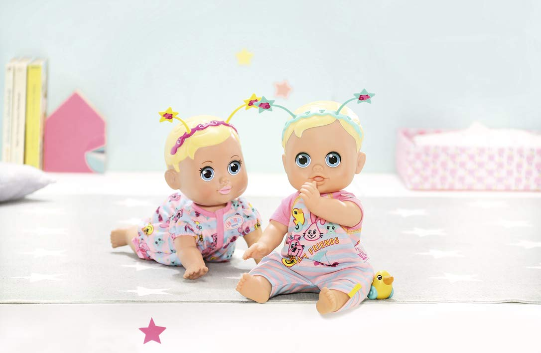 bunt Zapf Creation 826164 Born Funny Faces Bouncing Baby Puppe