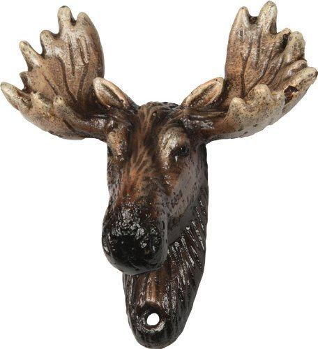 - CAST IRON VINTAGE STYLE MOOSE HEAD BOTTLE OPENER with WALL MOUNT