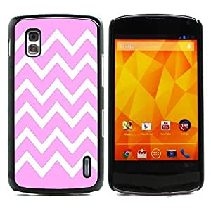 Graphic4You Chevron Pattern Design Hard Case Cover for LG Nexus 4 (Light Pink)