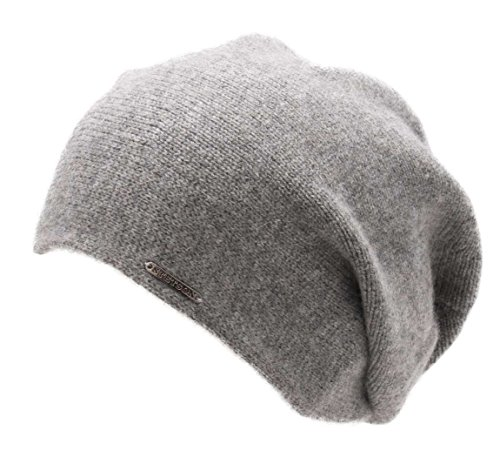 Stetson Shirley Cashmere Oversize Beanie Gray-3 by Stetson
