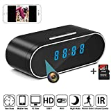 Cheap HD 1080P WiFi Camera Alarm Clock Night Vision Motion Detection Loop Recording Home Surveillance Cameras + 16G Card