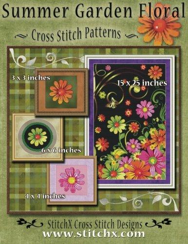 Summer Garden Floral Cross Stitch Patterns