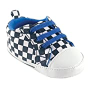 Luvable Friends Boy's Print Canvas Sneaker (Infant), Checkered, 12-18 Months M US Infant