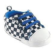 Luvable Friends Boy's Print Canvas Sneaker (Infant), Checkered, 0-6 Months M US Infant