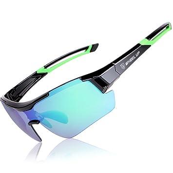 Gafas de equitación, cambios de guía, portátil cortavientos polarizadas a prueba de rayos ultravioleta