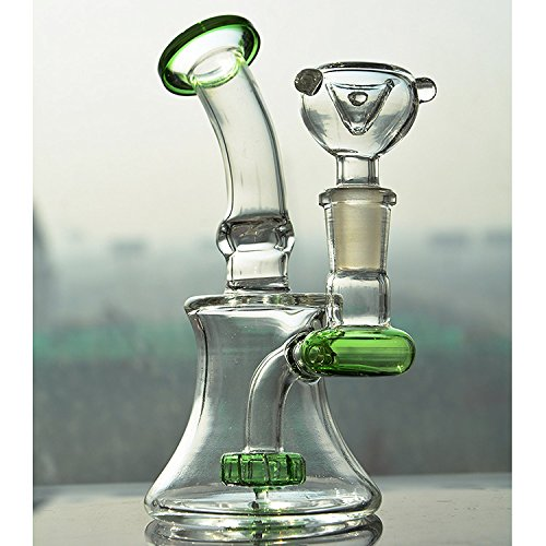 Glass-100 Newest Bubbler 8 Inch Tall 14mm Joint Glass Filter Cup Pipes