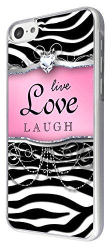 712 - Girly Diamond Live Love Laugh Design iphone 5C Coque Fashion Trend Case Coque Protection Cover plastique et métal