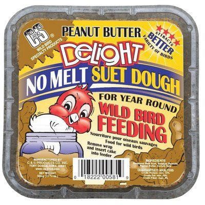 Melt Peanut Butter (Peanut Butter Delight No Melt Suet For Wild Birds (Pack of 4) by C&S Products)