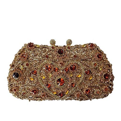 Paquete De Banquete Nupcial Bolsa De Bolsa De Cristal De Diamante De La Tarde De Lujo De Las Mujeres A