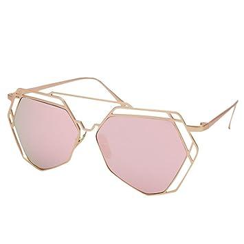 Z&YQHombres y mujeres polarizadas gafas de sol marea personalidad hueco cara larga cara redonda grande gafas