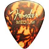 12 x Black Thin Fender Classic Celluloid Guitar Picks In A Handy Pick Tin