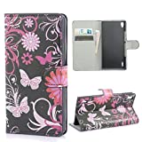 Huawei P7 Case,Huawei P7 Leather Case,Flip Case For Huawei P7,Huawei Ascend P7 Case,Coddycase Beautiful Print Flip Wallet Leather Stand Case Cover For Huawei Ascend P7