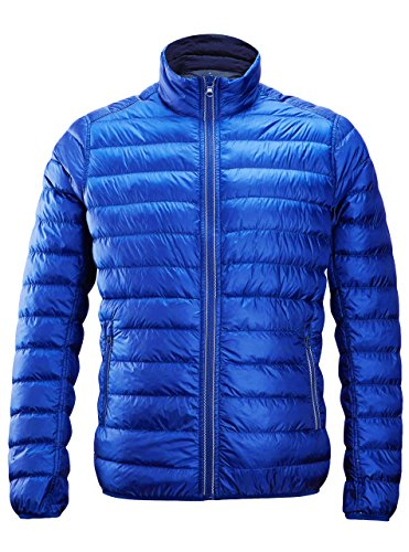 Down Jacket ,Mens Reversible Lightweight Water Repellent Packable Jacket