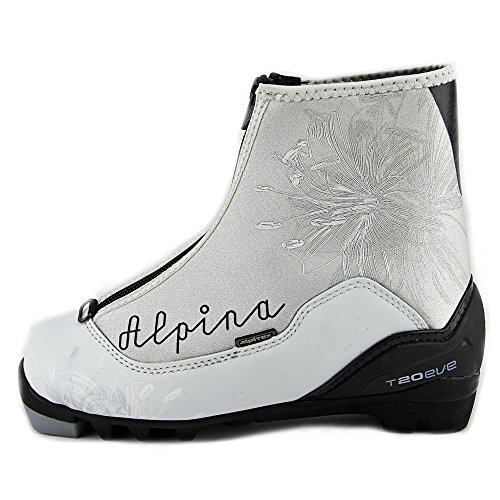 Alpina Women's T20 Eve Cross Country Nordic Touring Ski Boots with Zippered Lace Cover