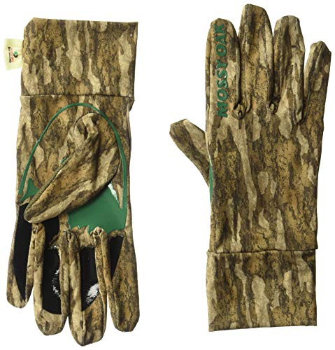 Mossy Oak Camo Tech Hunt Glove, Bottomland, One - Lightweight Mossy Gloves Oak