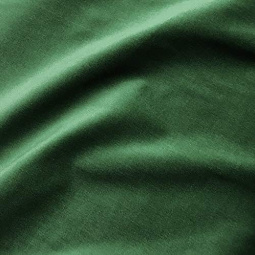 (Solid Emerald Green 100% Cotton Velvet Upholstery Fabric)
