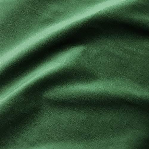 Solid Emerald Green 100% Cotton Velvet Upholstery Fabric