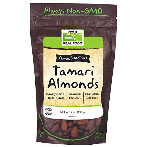 (NOW Foods, Tamari Almonds, Flavor Sentations, Savory Asian Tamari Flavor, Gluten-Free and Certified Non-GMO, 7-Ounce)