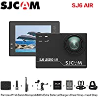 SJCAM SJ6 AIR Action Sports Camera Full HD 1080P 166°Wide Angle Waterproof Action Cam Sports DV Camcorder, with Mount of Accessories, Black