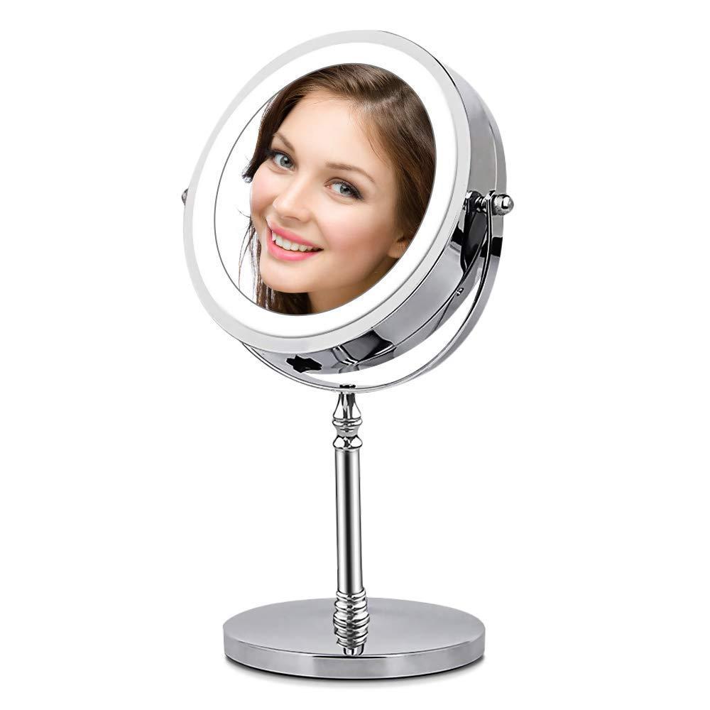 espejo de aumento led