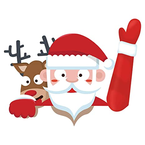VOVOIR Etiqueta engomada del limpiaparabrisas Trasero de Navidad de Papá Noel Pegatinas de PVC del limpiaparabrisas