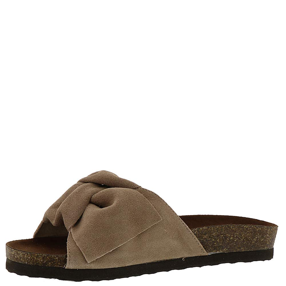 WHITE MOUNTAIN Womens Henley Suede Slides Flats